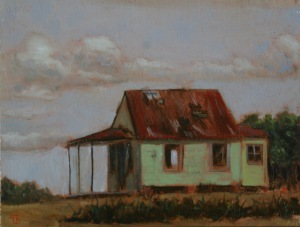 """The Green House.  8 x 9"""""""