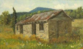 "The Trading Post, Edneyville.  8 x 13.5"""