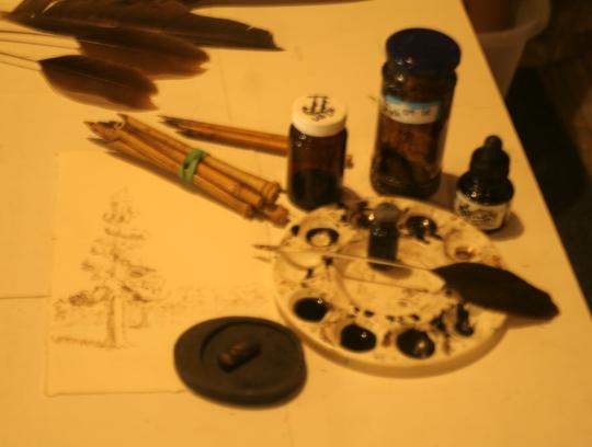 handmade pens and inks