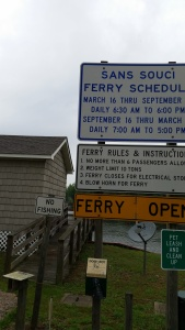 One of the last two cable ferries in North Carolina.  The other is here.